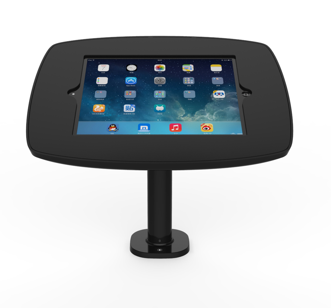 Desk Stand Pole Black 1 by pos-security.net